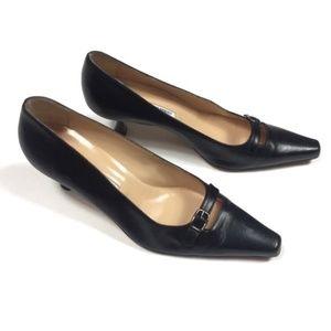 Manolo Blahnik Heels Size 38 8 Black Kitten Heel
